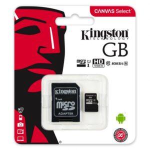 Tarjeta de memoria Kingston 16 gb